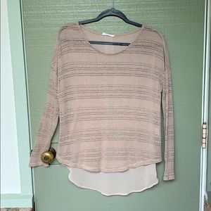 LUSH- size medium knit tan blouse